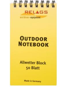 Wasserfester Notizblock für alle Outdooraktivitäten